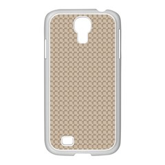 Pattern Ornament Brown Background Samsung Galaxy S4 I9500/ I9505 Case (white) by Simbadda