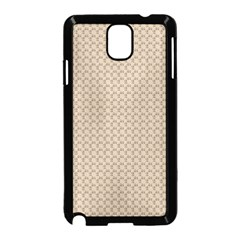 Pattern Ornament Brown Background Samsung Galaxy Note 3 Neo Hardshell Case (black) by Simbadda