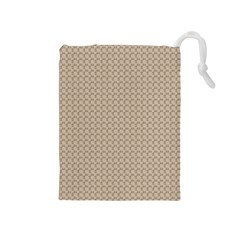 Pattern Ornament Brown Background Drawstring Pouches (medium)
