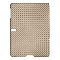 Pattern Ornament Brown Background Samsung Galaxy Tab S (10 5 ) Hardshell Case  by Simbadda