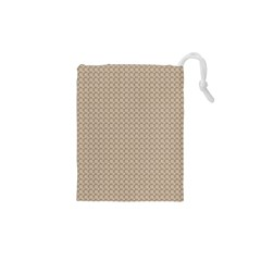 Pattern Ornament Brown Background Drawstring Pouches (xs)