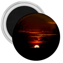 Sunset Sun Fireball Setting Sun 3  Magnets by Simbadda