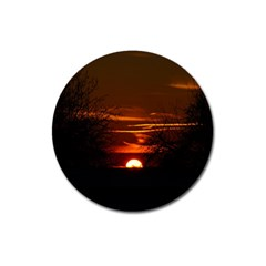 Sunset Sun Fireball Setting Sun Magnet 3  (round) by Simbadda