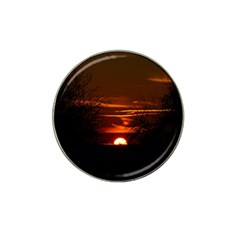 Sunset Sun Fireball Setting Sun Hat Clip Ball Marker by Simbadda