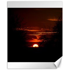 Sunset Sun Fireball Setting Sun Canvas 16  X 20   by Simbadda