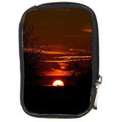 Sunset Sun Fireball Setting Sun Compact Camera Cases by Simbadda