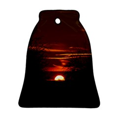 Sunset Sun Fireball Setting Sun Ornament (bell) by Simbadda