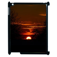Sunset Sun Fireball Setting Sun Apple Ipad 2 Case (black) by Simbadda
