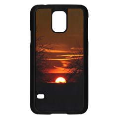 Sunset Sun Fireball Setting Sun Samsung Galaxy S5 Case (black) by Simbadda