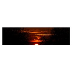 Sunset Sun Fireball Setting Sun Satin Scarf (oblong)