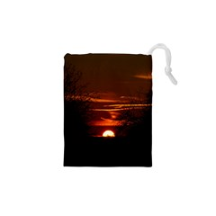 Sunset Sun Fireball Setting Sun Drawstring Pouches (xs)  by Simbadda