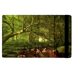 Red Deer Deer Roe Deer Antler Apple Ipad 3/4 Flip Case by Simbadda