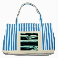 Texture Fractal Frax Hd Mathematics Striped Blue Tote Bag by Simbadda