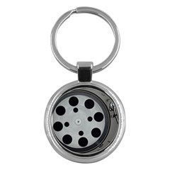 Turntable Record System Tones Key Chains (round)  by Simbadda