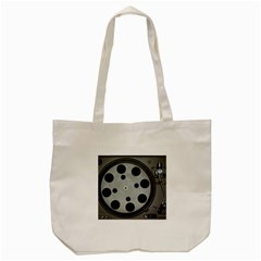 Turntable Record System Tones Tote Bag (cream) by Simbadda