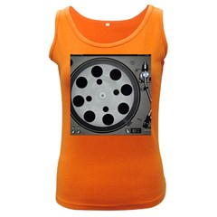 Turntable Record System Tones Women s Dark Tank Top by Simbadda