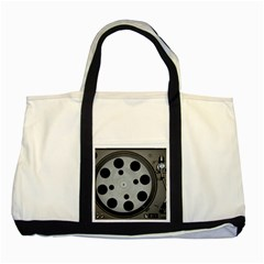 Turntable Record System Tones Two Tone Tote Bag by Simbadda