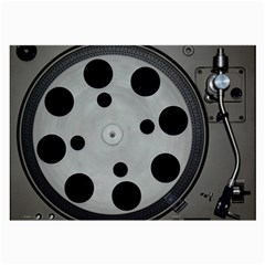 Turntable Record System Tones Large Glasses Cloth