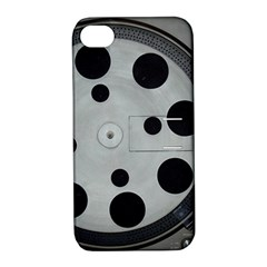 Turntable Record System Tones Apple Iphone 4/4s Hardshell Case With Stand by Simbadda