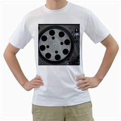 Turntable Record System Tones Men s T Shirt (white)  by Simbadda