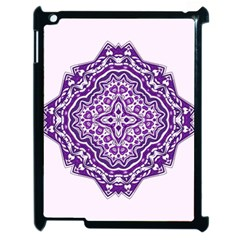 Mandala Purple Mandalas Balance Apple Ipad 2 Case (black) by Simbadda
