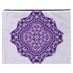Mandala Purple Mandalas Balance Cosmetic Bag (xxxl)