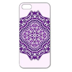 Mandala Purple Mandalas Balance Apple Seamless Iphone 5 Case (clear) by Simbadda