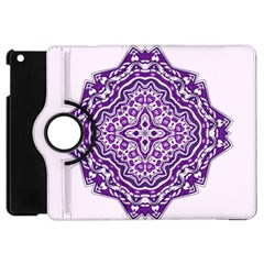 Mandala Purple Mandalas Balance Apple Ipad Mini Flip 360 Case by Simbadda
