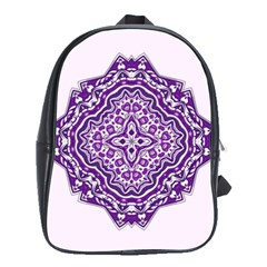 Mandala Purple Mandalas Balance School Bags (xl)  by Simbadda