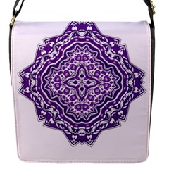 Mandala Purple Mandalas Balance Flap Messenger Bag (s)