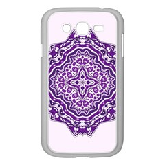 Mandala Purple Mandalas Balance Samsung Galaxy Grand Duos I9082 Case (white) by Simbadda