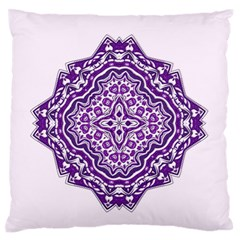 Mandala Purple Mandalas Balance Large Flano Cushion Case (two Sides) by Simbadda
