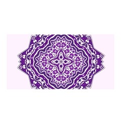 Mandala Purple Mandalas Balance Satin Wrap by Simbadda