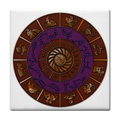 Zodiak Zodiac Sign Metallizer Art Tile Coasters by Simbadda