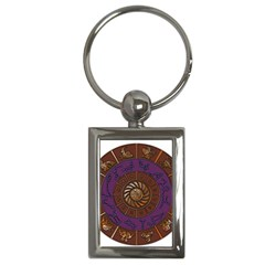 Zodiak Zodiac Sign Metallizer Art Key Chains (rectangle)  by Simbadda