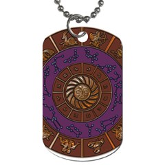 Zodiak Zodiac Sign Metallizer Art Dog Tag (one Side) by Simbadda