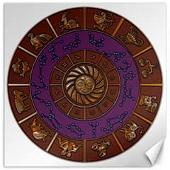 Zodiak Zodiac Sign Metallizer Art Canvas 12  X 12   by Simbadda