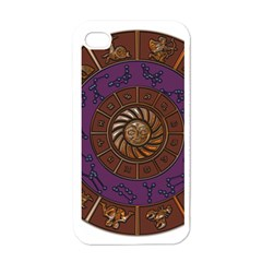 Zodiak Zodiac Sign Metallizer Art Apple Iphone 4 Case (white) by Simbadda