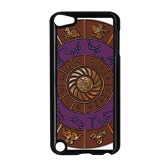 Zodiak Zodiac Sign Metallizer Art Apple Ipod Touch 5 Case (black) by Simbadda