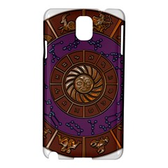 Zodiak Zodiac Sign Metallizer Art Samsung Galaxy Note 3 N9005 Hardshell Case by Simbadda