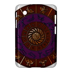 Zodiak Zodiac Sign Metallizer Art Samsung Galaxy Tab 2 (7 ) P3100 Hardshell Case  by Simbadda