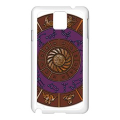 Zodiak Zodiac Sign Metallizer Art Samsung Galaxy Note 3 N9005 Case (white) by Simbadda