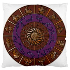 Zodiak Zodiac Sign Metallizer Art Large Flano Cushion Case (one Side) by Simbadda