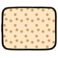 Pattern Gingerbread Star Netbook Case (large) by Simbadda