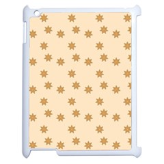 Pattern Gingerbread Star Apple Ipad 2 Case (white) by Simbadda