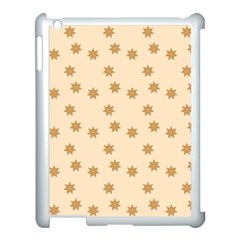 Pattern Gingerbread Star Apple Ipad 3/4 Case (white) by Simbadda