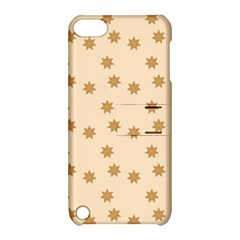 Pattern Gingerbread Star Apple Ipod Touch 5 Hardshell Case With Stand by Simbadda