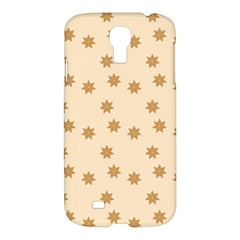 Pattern Gingerbread Star Samsung Galaxy S4 I9500/i9505 Hardshell Case by Simbadda