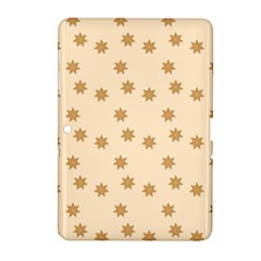 Pattern Gingerbread Star Samsung Galaxy Tab 2 (10 1 ) P5100 Hardshell Case  by Simbadda