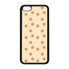 Pattern Gingerbread Star Apple Iphone 5c Seamless Case (black) by Simbadda